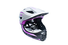 CIGNA TT32 Plus Kids Bicycle Bike Helmet 2 in 1 Half/Full-Face Silver&Purple M