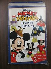 Mickey and Friends Pom Poms Book & Kit, Makes 5 Characters 110314ame5