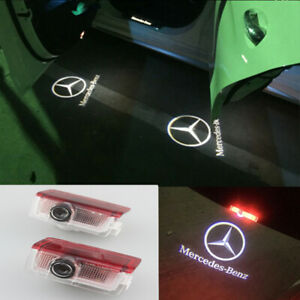 2X LED Door courtesy Shadow Projector Lights For Mercedes benz A/B/C/E/GLA-Class