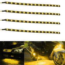 4x Waterproof 12''/15 DC 12V Motor LED Strip Underbody Light For Car Motorcycle