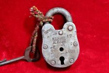 Iron Lock and Key Old Vintage Antique Collectible BE-69