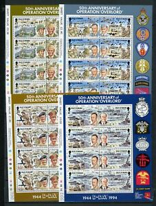 [G27539] Isle of Man 1994 : Good Set of 4 Very Fine MNH Sheets