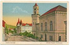 Romania Bukowina 1930s Vatra Dornei Spa,King Ferdinand street,nice oldl pc