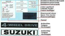 Suzuki LJ80 DECAL SET complete 16 pieces for the whole car, stickersatz !