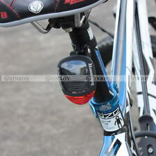2 LED Bike Bicycle Solar Energy Rechargeable Red Tail Rear Light Flash Light