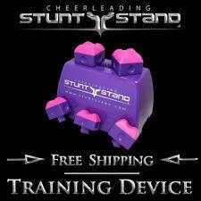 Cheerleading Stunt Stand(R) Purple w/ Pink Balance & Flexibility Training Device
