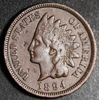 1894 INDIAN HEAD CENT - With LIBERTY - VF VERY FINE