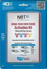 Net 10 Wireless - Bring Your Own Phone - 4G LTE Activation Kit - GSM and CDMA