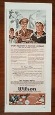 1940s Wilson Sporting Goods 1942 WW2 Navy Sailor Army Soldier Vintage Print Ad
