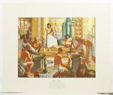 Egypt 1500 B.C. A History of Pharmacy Pictures Robert Thom Litho Art Print