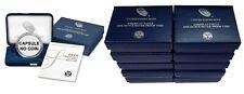 LOT of 10 (NO COINS) 2020 American Silver Eagle 1oz $1 Proof Box w/ CAP & COA