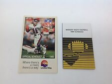 Vintage NFL Football Schedule Lot