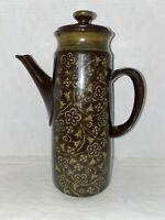 Vintage Franciscan Earthenware Madeira Coffee Pot Serving Pitcher Brown Green