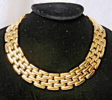 Haute Couture Runway Necklace Choker Vintage Givenchy Egyptian Revival Gold tone