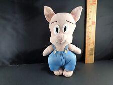 "Hampton J. Pig Tiny Tunes Adventures Plush Stuffed Toy Doll 9"" Warner Bros"