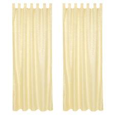 2x Rideau à passants polyester 245x137cm voilage occultant jaune imprimé