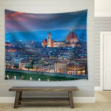 wall26 - Florence, Italy at Sunset - Fabric Tapestry, Home Decor -51x60 inches