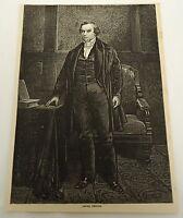 1878 magazine engraving ~ DANIEL WEBSTER