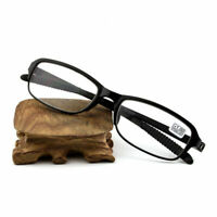 Flexible Designer Men's Temple Half Rimless Reading Glasses Reader Black Gi F0H8