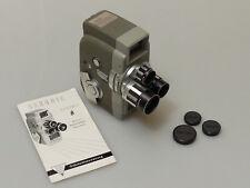 PRL) SEKONIC 8 TURRET VTG MOVIE CAMERA 8mm HACHIYO LENS 9 13 32 CARICA MOLLA EX+