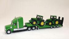mb Siku #1837 Low Loader Truck w/2 John Deere Tractors 6820, 6920 Ho 1:87 scale