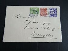 Nederland mengfrankering op brief Amsterdam - Brussel 1929