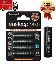 4 x Panasonic Eneloop PRO AA HR06 2500mAh NiMH Rechargeable Battery Ready to Use