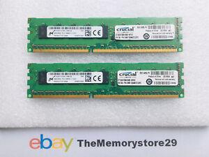 16GB 2 x 8GB DDR3 ECC Memory RAM Modules PC3-12800E 1600MHz DIMM