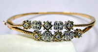 Diamond bangle~Vintage 18 K solid gold Diamond bangle bracelet cuff