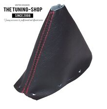 FOR LAND ROVER FREELANDER 2 LR2 06-14 AUTOMATIC GEAR BOOT LEATHER RED STITCH NEW