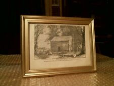 White Pigeon Church Where Lincoln Attended In Early Life Framed Print From 1898