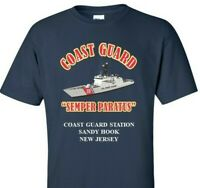 COAST GUARD STATION SANDY HOOK *NEW JERSEY*COAST GUARD VINYL PRINT SHIRT/SWEAT