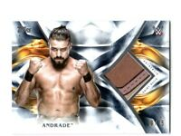 WWE Andrade 2019 Topps Undisputed Blue Shirt Relic Card SN 20 of 25