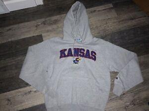 VINTAGE KU Kansas Jayhawks Basketball Champion Hoodie Size Small