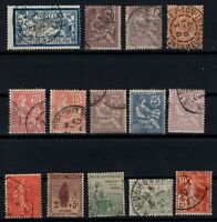 PP135327/ FRANCE STAMPS – YEARS 1900 - 1924 USED SEMI MODERN LOT – CV 161 $