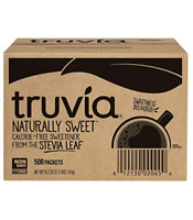 Truvia Natural Stevia Sweetener Packets 35.25 Ounce 500 Count Pack of 1
