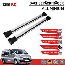 Dachträger Gepäckträger für Opel Vivaro 2001-2014 Aluminium Grau 2 tlg TÜV ABE