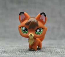 Littlest Pet Shop #807 LPS Animals Toy Brown Orange Fox Starburst Eyes Loose
