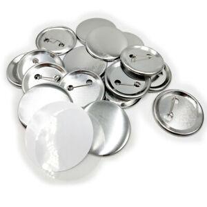 DIY Badge Button Maker Supplies/Parts Metal Pin Back 25mm-75mm Round 100pcs