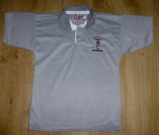 HARLEQUINS RUGBY-Players Style-NEW-Rugby Shirt S/S-Embroidered-GREY-MEDIUM