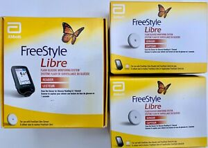 NEW FreeStyle Libre Reader and Two 14-day Sensors 2021-04, Mmol/L, COMPLETE SET