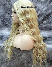 Long Spiral Curls Blonde Mix Full Lace Front Wig Heat Ok Hair Piece #FS613.27