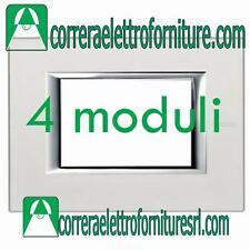 BTICINO AXOLUTE placca 4 moduli posti argento HA4804SA