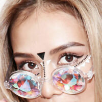 Rave Kaleidoscope Rainbow Round Glasses Sunglasses Diffracted Festival Lens Cool