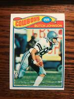1977 Topps #516 Butch Johnson Football Card Rookie RC Dallas Cowboys Raw