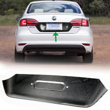 Carbon Fiber Volkswagen Jetta MK6 Sedan Rear License Plate Cover Trim 14