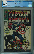 CAPTAIN AMERICA #100 CGC 6.5 1ST ISSUE CLASSIC COVER CR/OW PGS 1968