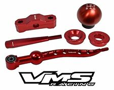 VMS SHORT SHIFTER + EXTENSION + KNOB + SOLID BUSHINGS SET FOR ACURA INTEGRA RED