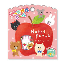71X Kawaii Apple Animal Flake Stickers Sack Cute Japanese Stationery Diary Craft