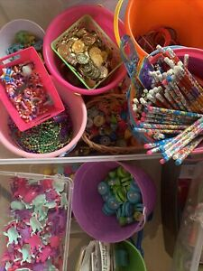 Party Favors Lot Bulk 120 Toy Assorted Sticker Piñata Filler Carnival Prize